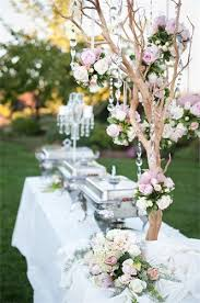 Table Buffet Decorations by Wedding Buffet Ideas Using Flowers For Buffet Table Decorations