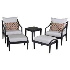 Patio Club Chair Rst Brands Astoria 5 Patio Club Chair And Ottoman Set With