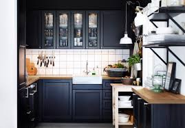 black and wood kitchen wonderful small kitchen remodel ideas with black painted