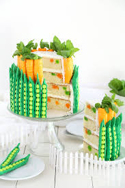 peas and carrots cake carrots sprinkles and cake