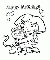 big cake happy birthday coloring kids holiday pages