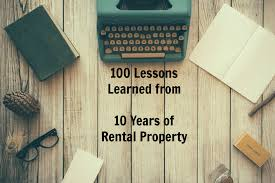 100 lessons learned from 10 years of rental property real estate