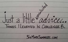 In Challenge Just A Advice For Challenge Directors Six More Summers