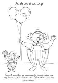 à imprimer un clown et un singe