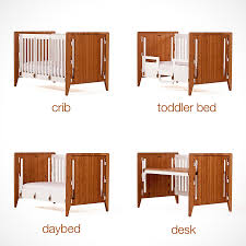 Converting Crib To Daybed by Gro Furniture 5 In 1 Companion Crib And Desk Mikeshouts