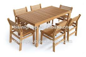 wholesale bamboo furniture outdoor bamboo dining square table set