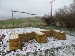a shot at straw bale gardening