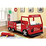 Fire Truck Bunk Bed Amazon Com Boys U0027 Fire Department Twin Loft Bed With Slide Red