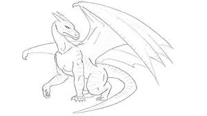 how to draw a dragon step by step draw a dragon easy for