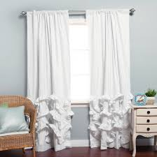 Blackout Curtains White Curtain Collection Black And White Blackout Drapes Curtains