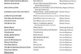 Musical Theater Resume Sample by Musical Theatre Resume Examples Pin Musical Theatre Audition