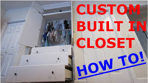 the built in closet for my son how to youtube