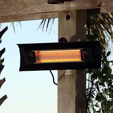 Firesense Table Top Patio Heater by Fire Sense 60460 Black Wall Mounted Infrared Steel Patio Heater