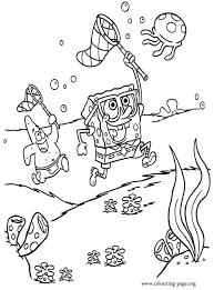 spongebob squarepants patrick spongebob hunting jellyfish