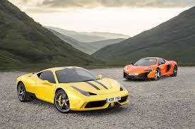mclaren vs supercar shootout 458 speciale versus mclaren 650s autocar