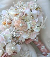 wedding bouquets with seashells pink sea shell wedding bouquet blush bridal bouquet bridal