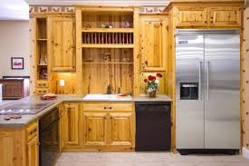 modern kitchen with unfinished pine cabinets durable pine furniture small kitchen design with l shaped brown unfinished