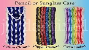 crochet bands pencil glasses sunglasses loomigurumi rainbow loom