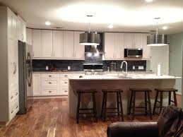 white cabinets with grey goose quartzite countertops handmade