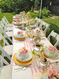 tea party tables garden table decoration ideas search decorations in