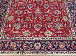 7 X 9 Wool Rug 7 X 9 Persian Tabriz Hand Knotted Wool Traditional Red Blue