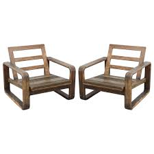 Reclaimed Wood Chairs Vintage Teak And Reclaimed Wood Chairs 1950s Usa For Sale At 1stdibs