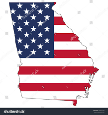 Georgia Map Usa by Vector Map Us Flag Inside Georgia Stock Vector 440831359