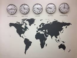 time zone layout world map vinyl wall sticker time zones clocks and graphics