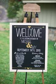 Wedding Program Chalkboard Giant Wedding Program Chalkboard Sign By Beautiedaffair On Etsy