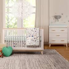Babyletto Grayson Mini Crib White Nursery Set Convertible Crib And Auburn Drawer Dresser In Pe
