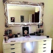 light up vanity table lighted vanity mirror table nomobveto org