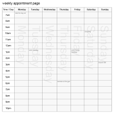 8 best images of printable appointment schedule template