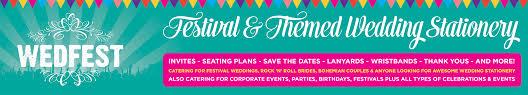 wedfest festival wedding stationery wedding invitations