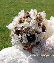 vintage bouquets burlap and lace wedding bouquets for rustic vintage farm wedding