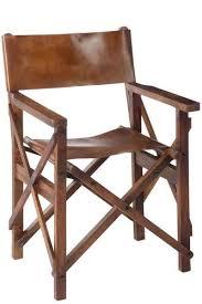 chaise de cinéma chaise cinéma en bois et cuir cognac