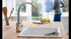 grohe minta kitchen faucet grohe 32665dc1 concetto single handle pull spray kitchen