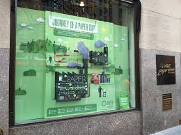 making green window display green at nbcu u2014 michele gorham