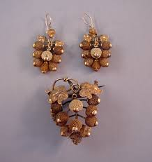 hair broach hair brooch and earrings set morning jewelry