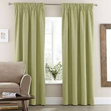 vermont green lined pencil pleat curtains dunelm