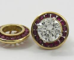 earring jackets for studs ruby earring jackets for sale at 1stdibs
