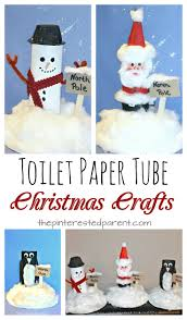 toilet paper tube snowman santa penguin at the north pole