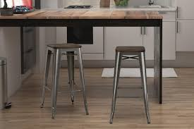 Black Backless Counter Stools Dhp Furniture Fusion 30