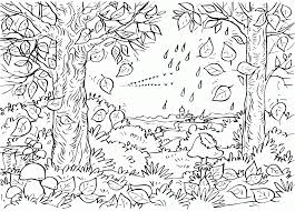 free fall coloring pages printable kids coloring
