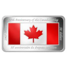 50 fine silver coin 50th anniversary of the canadian flag