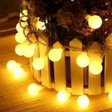 2pcs 33ft 100 led globe string lights warm white ball fairy light