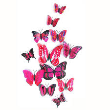 3D Butterfly Wall Stickers Butterflies Bedroom