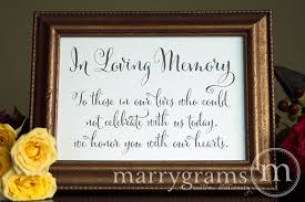 wedding memorial sign in loving memory wedding memorial sign whimsical style