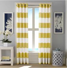 Yellow Brown Curtains Curtain Give Your Windows Modern Dressing Look With Navy Blackout