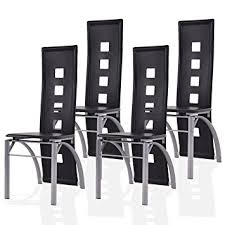 4 Dining Chairs Giantex 4 Pcs Dining Chairs Pu Leather Steel Frame