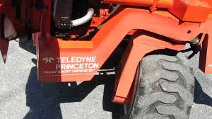 for sale 1997 teledyne princeton d5000 forlift w trailer for